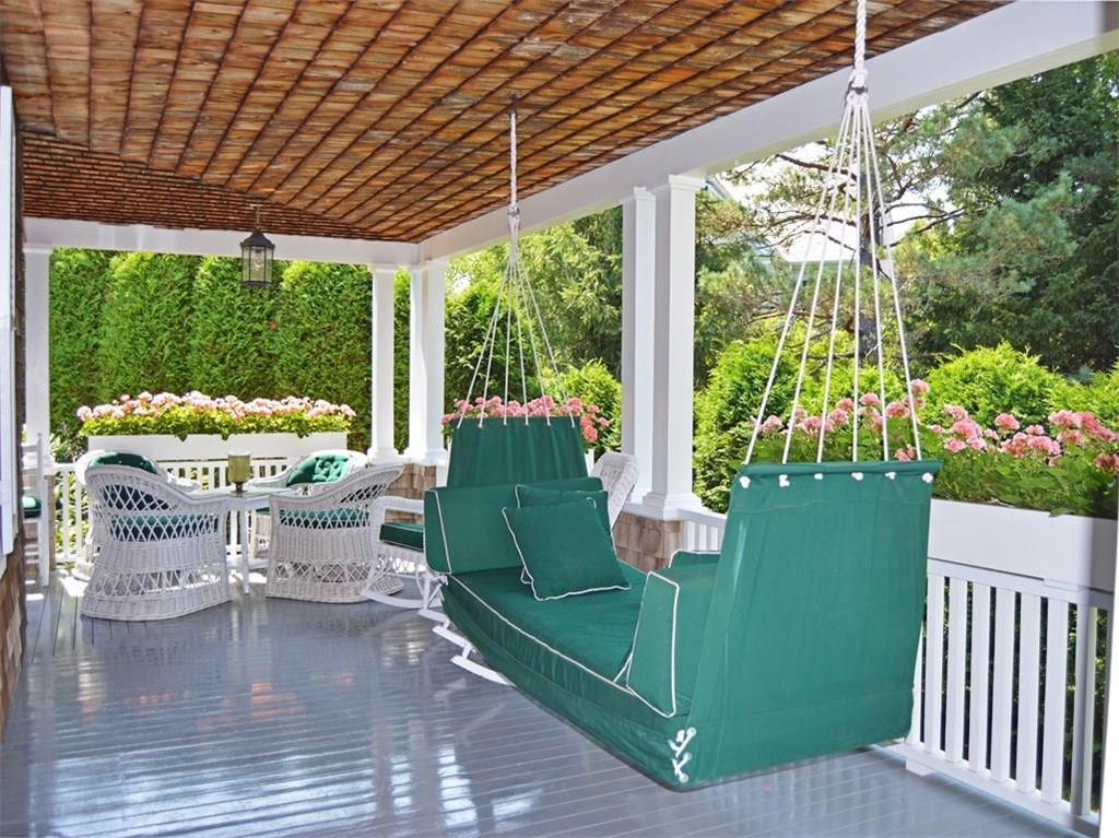 Back porch and gardens