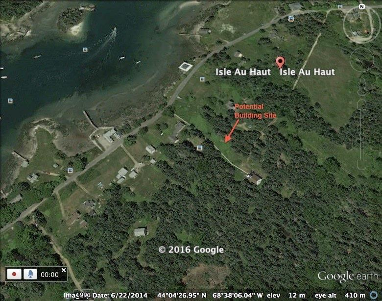 Google Earth shot of the land shows...