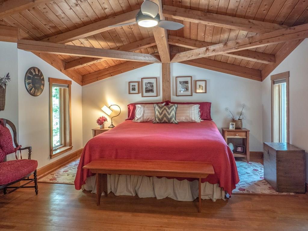 Large master bedroom suite enjoys...