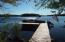 The spot for you to park your boat on Long Lake, take a swim, enjoy a sunset from the dock.