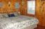 This cottage houses a king size bed. Cabin #8.