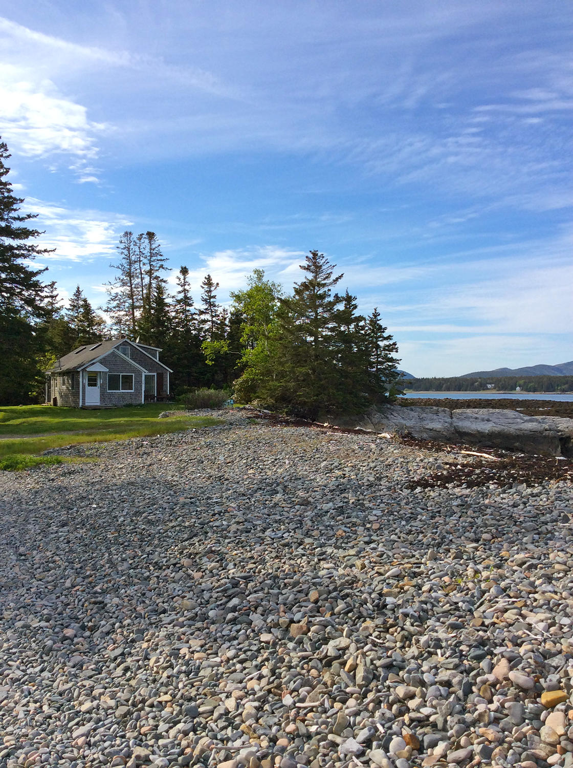 Shore and cottage