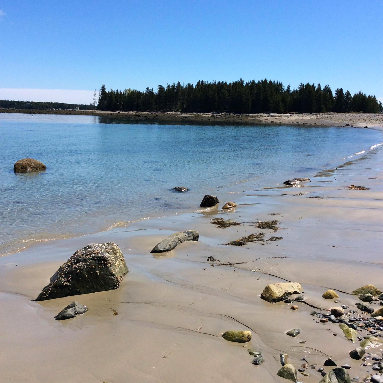 Lower tide beach