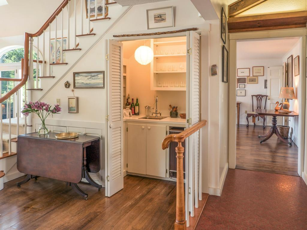 Wet Bar off Great Room and Stairs to...