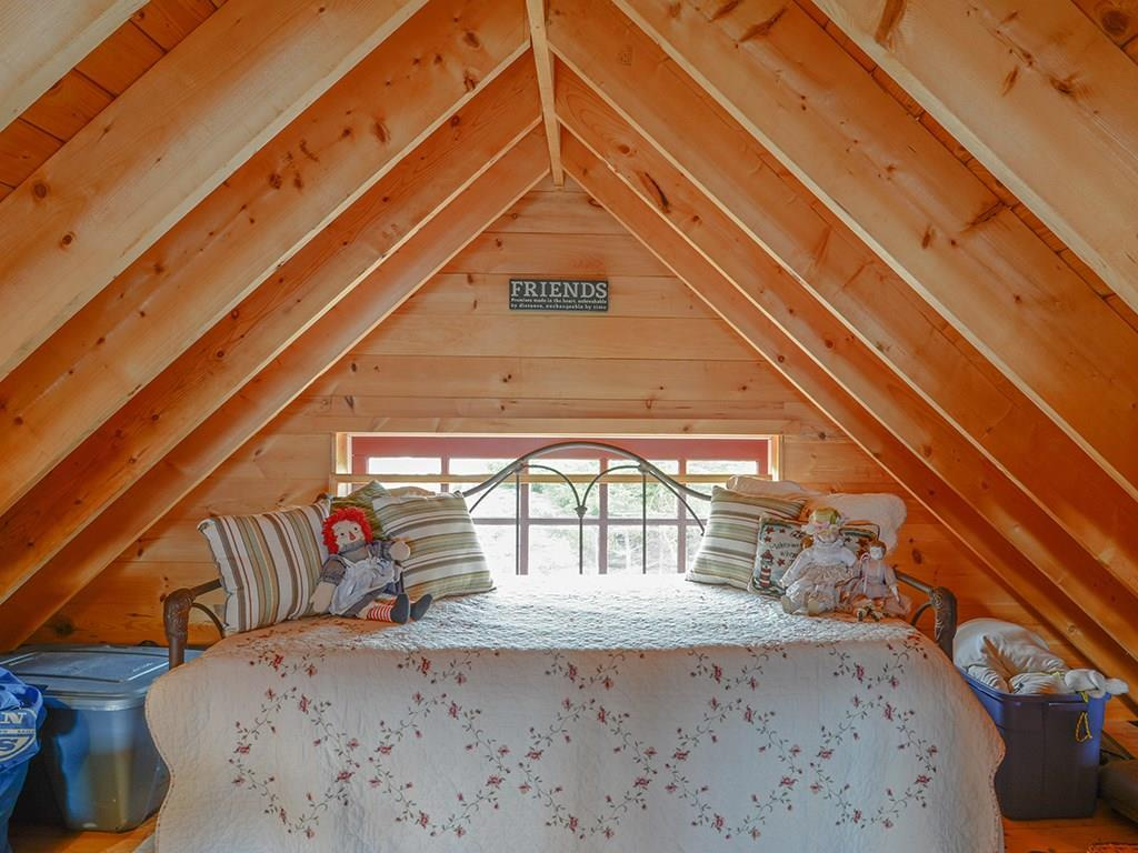 Loft with king size trundle bed.