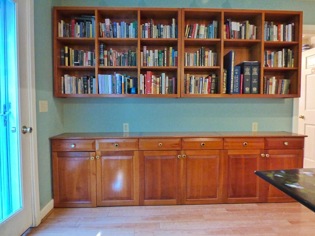More custom cabinetry in the living...