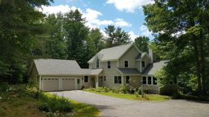 Like new contemporary cape on Highland Road in Bridgton.