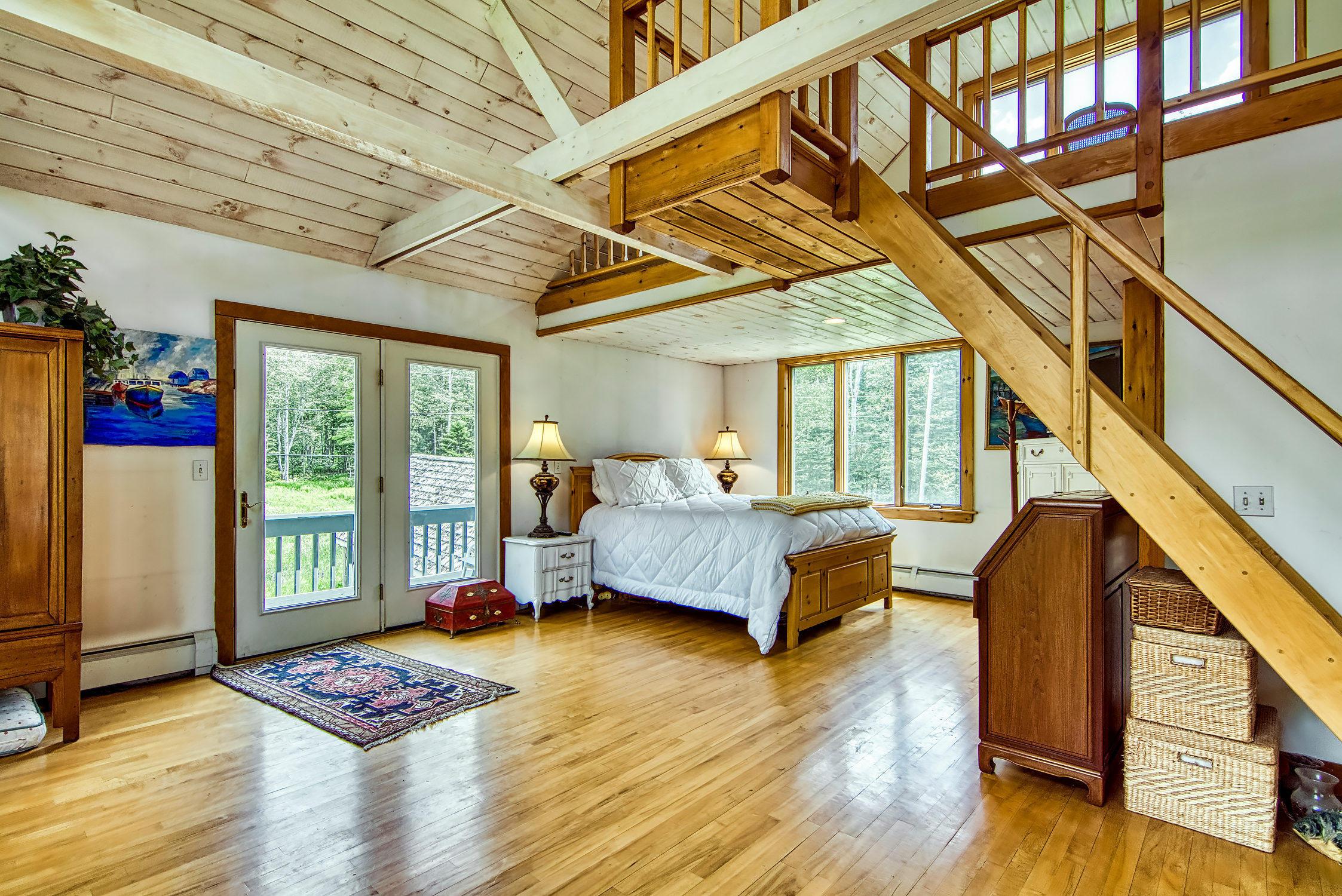 2nd Floor Bedroom + loft stairs
