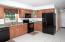 Tiled floor kitchen