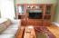 Wide pine floors in Den