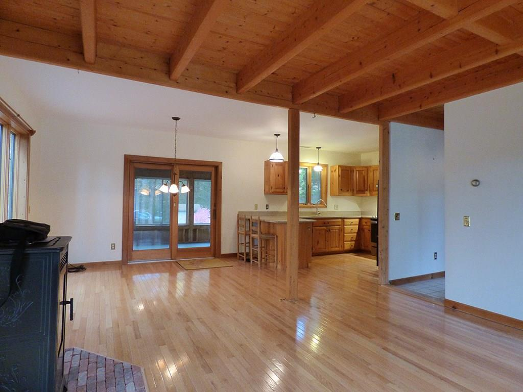 Open floor plan shows access to the...
