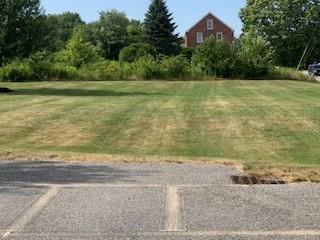 Lot 4 curb cut shows pad site.