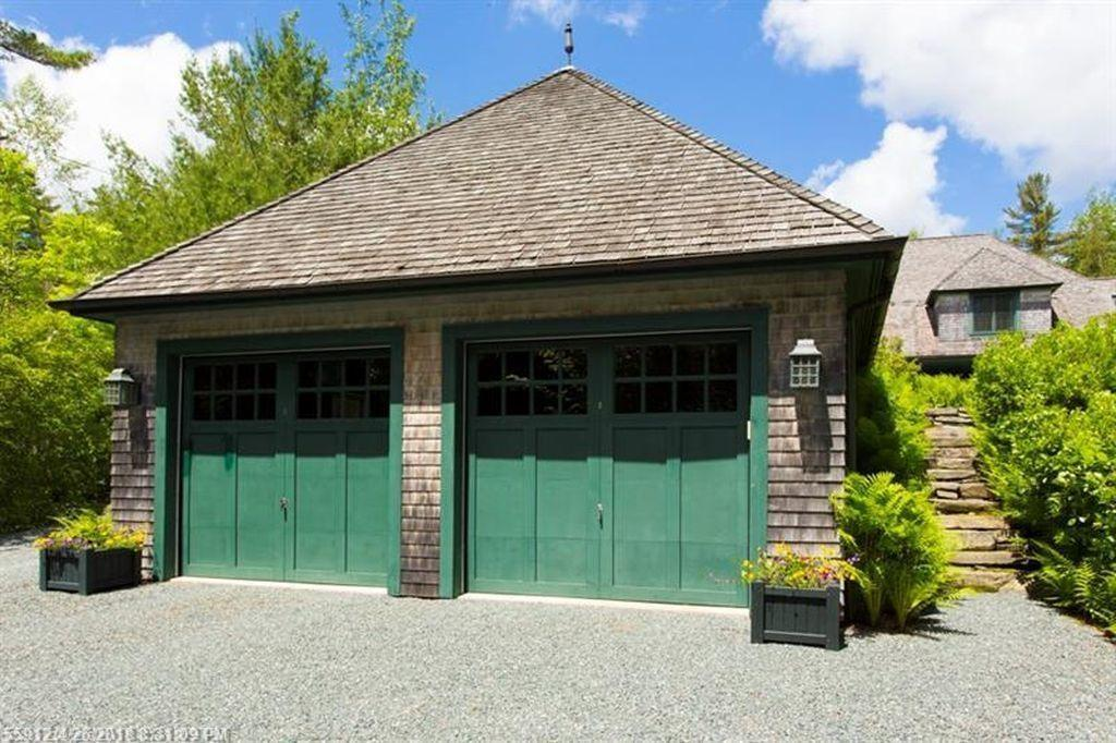 2-Car Garage with stone stairs to...