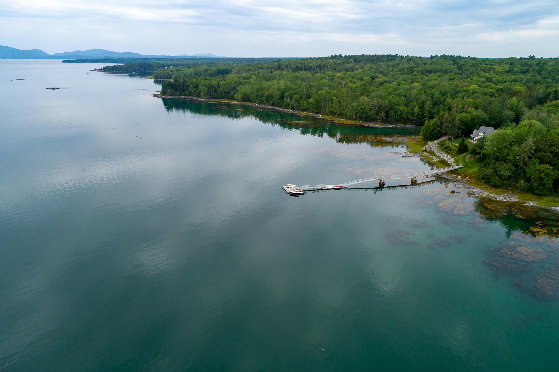 Deep water dock on bay.