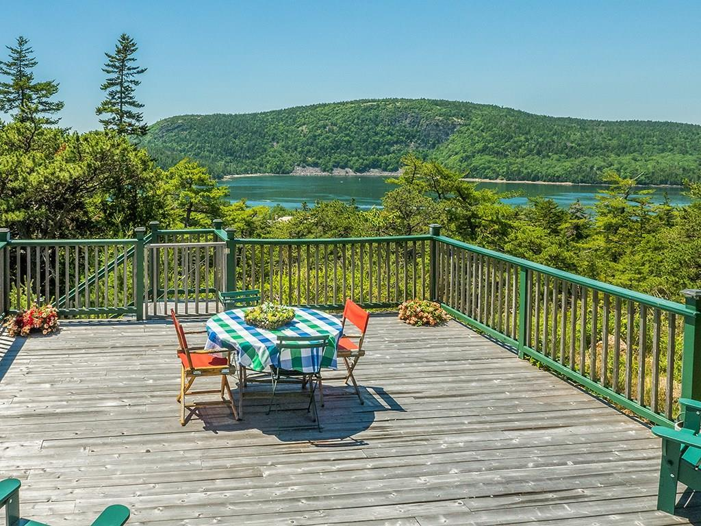 Deck overlooking Somes Sound to...
