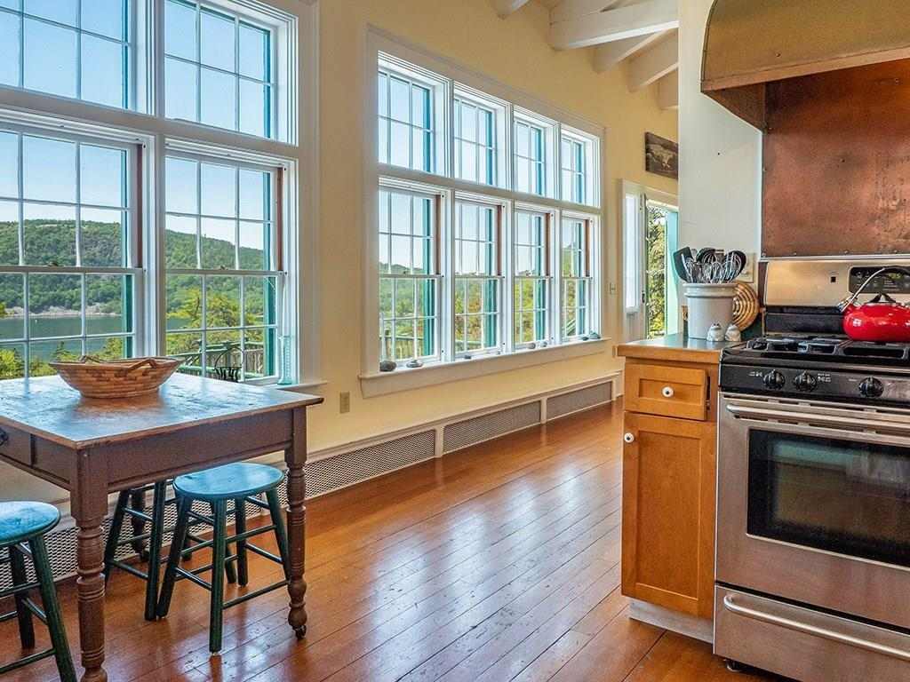 Kitchen with views to Somes Sound...