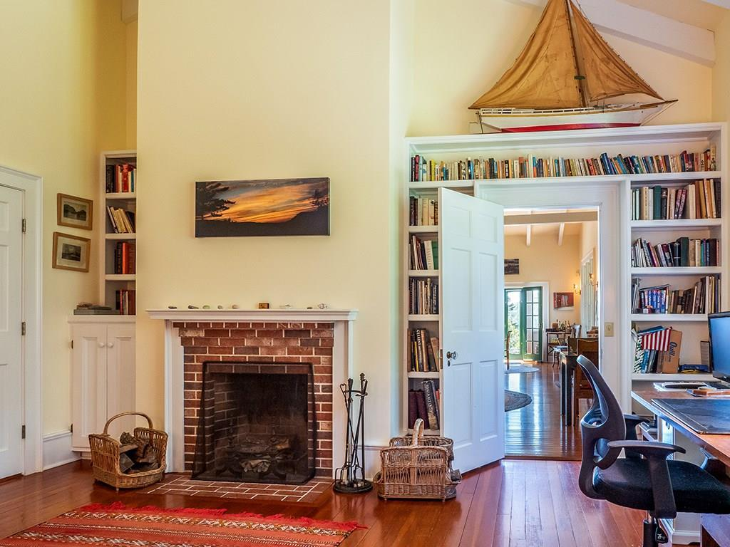 Office Library with Fireplace