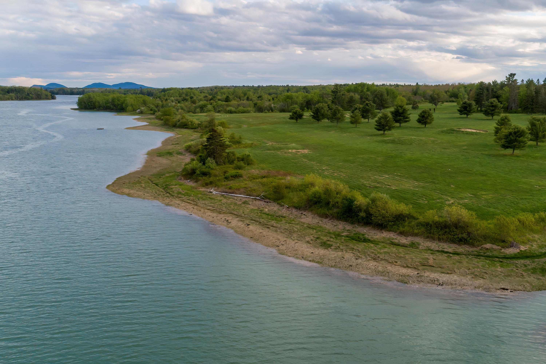 Looking Down River toward Frenchman Bay