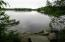 This is view from the right side of the sandy beach, Assoc. lot. Possible place for a shared dock.