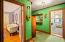 hallway showing TV room