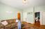 Apt. 1 Living room and door to bedroom 2