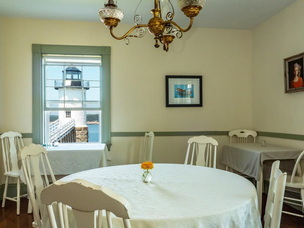 The dining room in the main house...