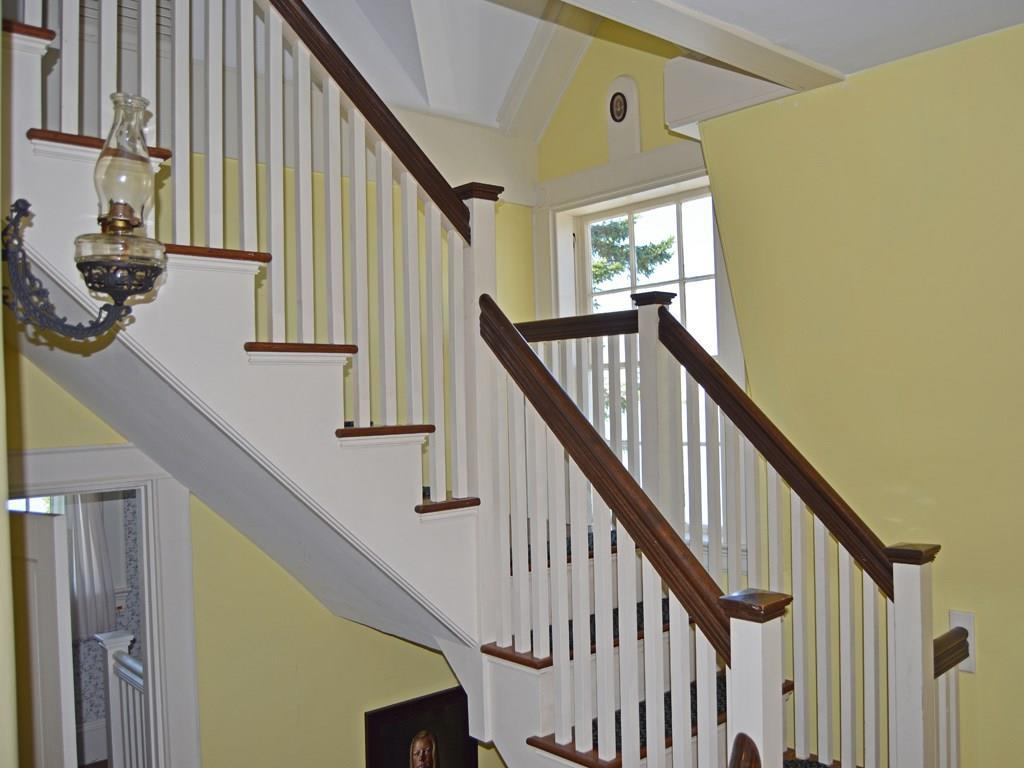 The beautiful staircase leading to...