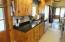 KItchen Pine Cabinets w/ Granite Countertops
