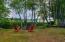 Front yard overlooking Sebago Lake