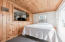 Knotty pine detail throughout