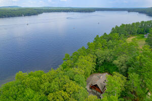 Aerial View of 40 Fairway Drive, Naples and Brandy Pond