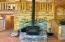 Great room wood stove