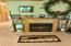 Lower electric fireplace