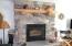 fireplace w/custom mantel