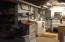 Laundry area in basement