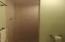 Downstairs walk in tile shower