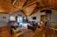 Beautiful tongue and groove ceiling with bamboo floors. Access to the loft.