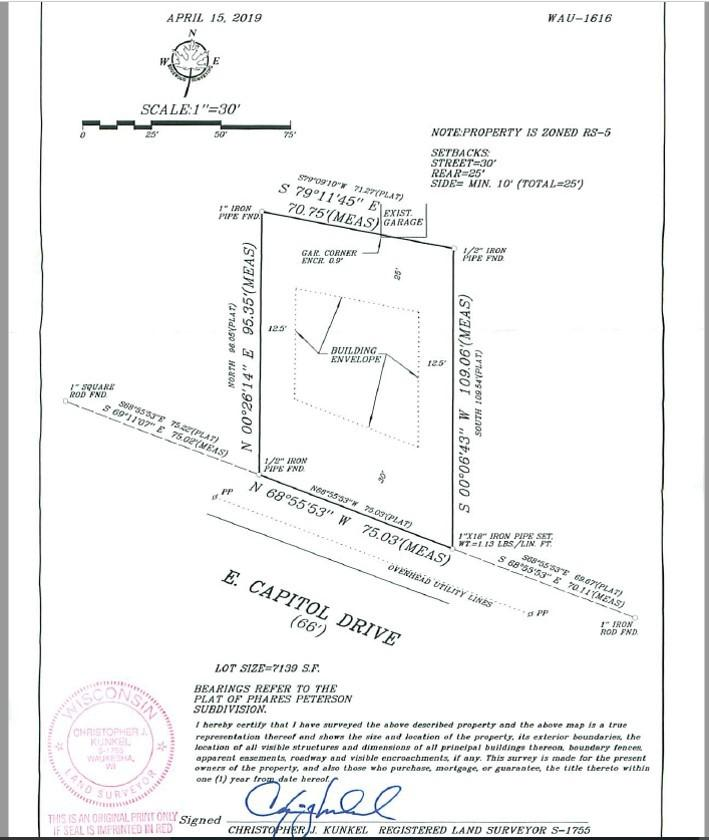 1014 Capitol Dr, Hartland, Wisconsin 53029, ,Vacant Land,For Sale,Capitol Dr,1677039