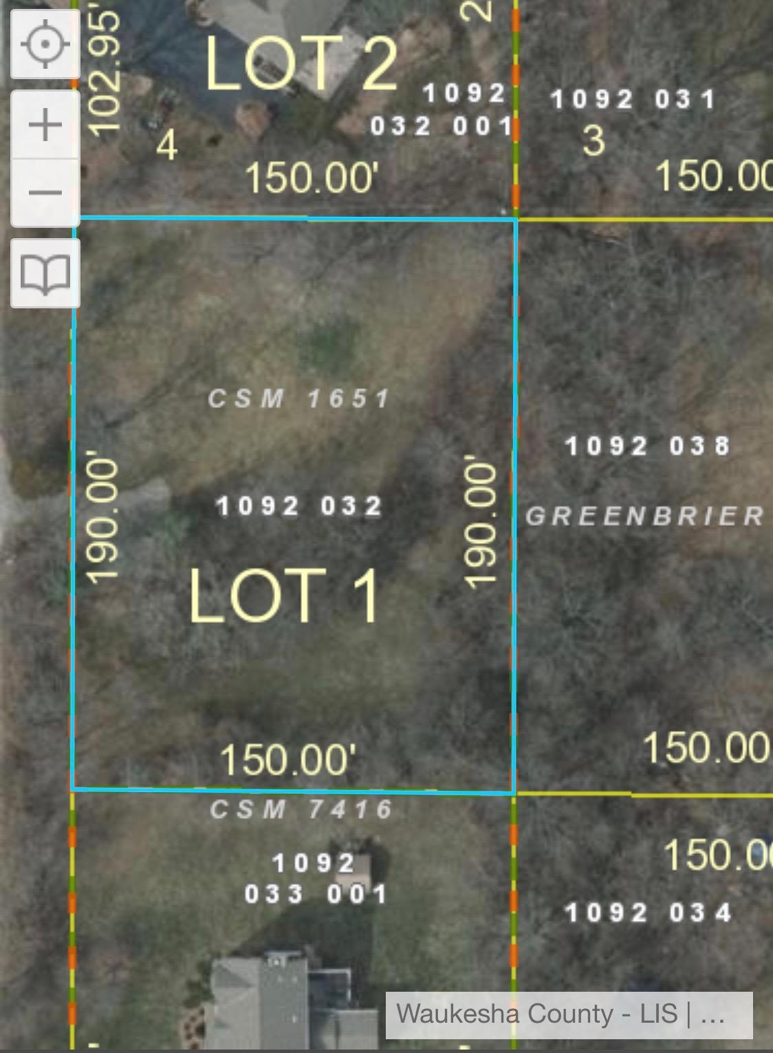1440 Hickory Hill Ln, Brookfield, Wisconsin 53045, ,Vacant Land,For Sale,Hickory Hill Ln,1694725