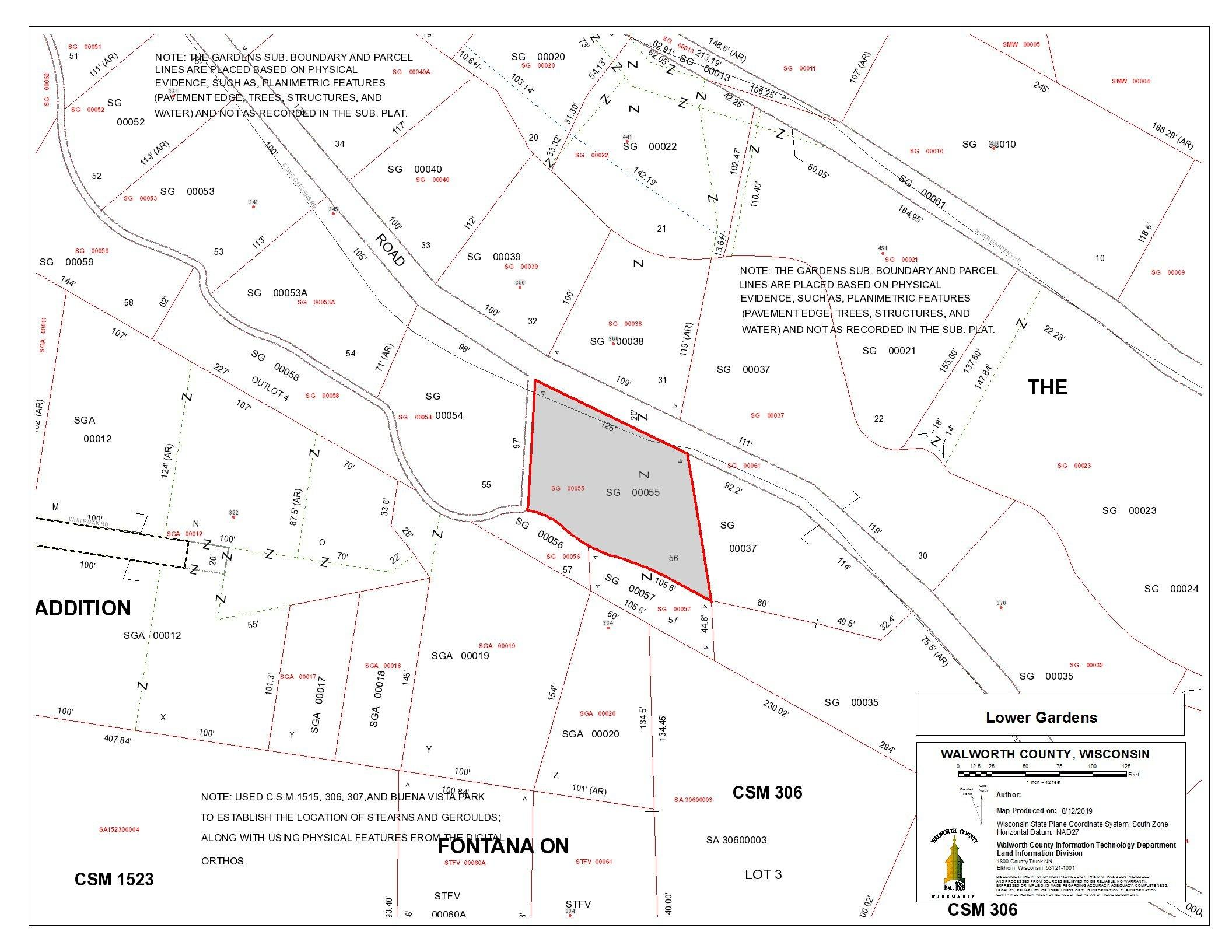 Lt0 Lower Gardens Rd, Fontana, Wisconsin 53125, ,Vacant Land,For Sale,Lower Gardens Rd,1710033