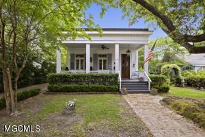 This is your chance to own a beautiful piece of history.  One of the oldest homes in Ocean Springs this 1840 Federalist Style home is located in the heart of downtown Ocean Springs.  The attention to architectural details is truly exquisite. Gracious high ceilings, elaborate faux finished walls, handmade copper tub. Many extensive upgrades.  You have to see this home and the courtyard garden you will not regret it!  It is amazing!!!!  https://my.matterport.com/show/?m=ndTS3e2EmEn&brand=0