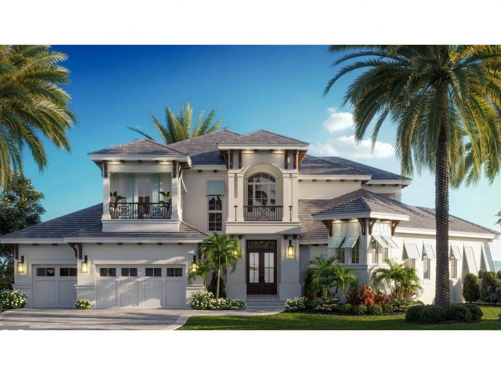 Fantastic NEW Coastal home to begin soon!! custom designed plan to capture the panoramic water views of189 ft of waterfrontage...stunning views to the Marco River.. 2 story home with a First floor owners suite with dual walk in closets, walk in shower, separate tub and dual vanities.. First floor features volume ceilings complete with custom beamed ceiling details.. the second floor with 3 guest suites, loft and large balcony to enjoy the views! High End Custom finishes throughout- All of Aqua's homes feature oversized covered lanai spaces, beautiful cypress ceiling details, outdoor kitchens!! motorized screens and shutters enclose the covered lanai. expected completion Sept 2022.