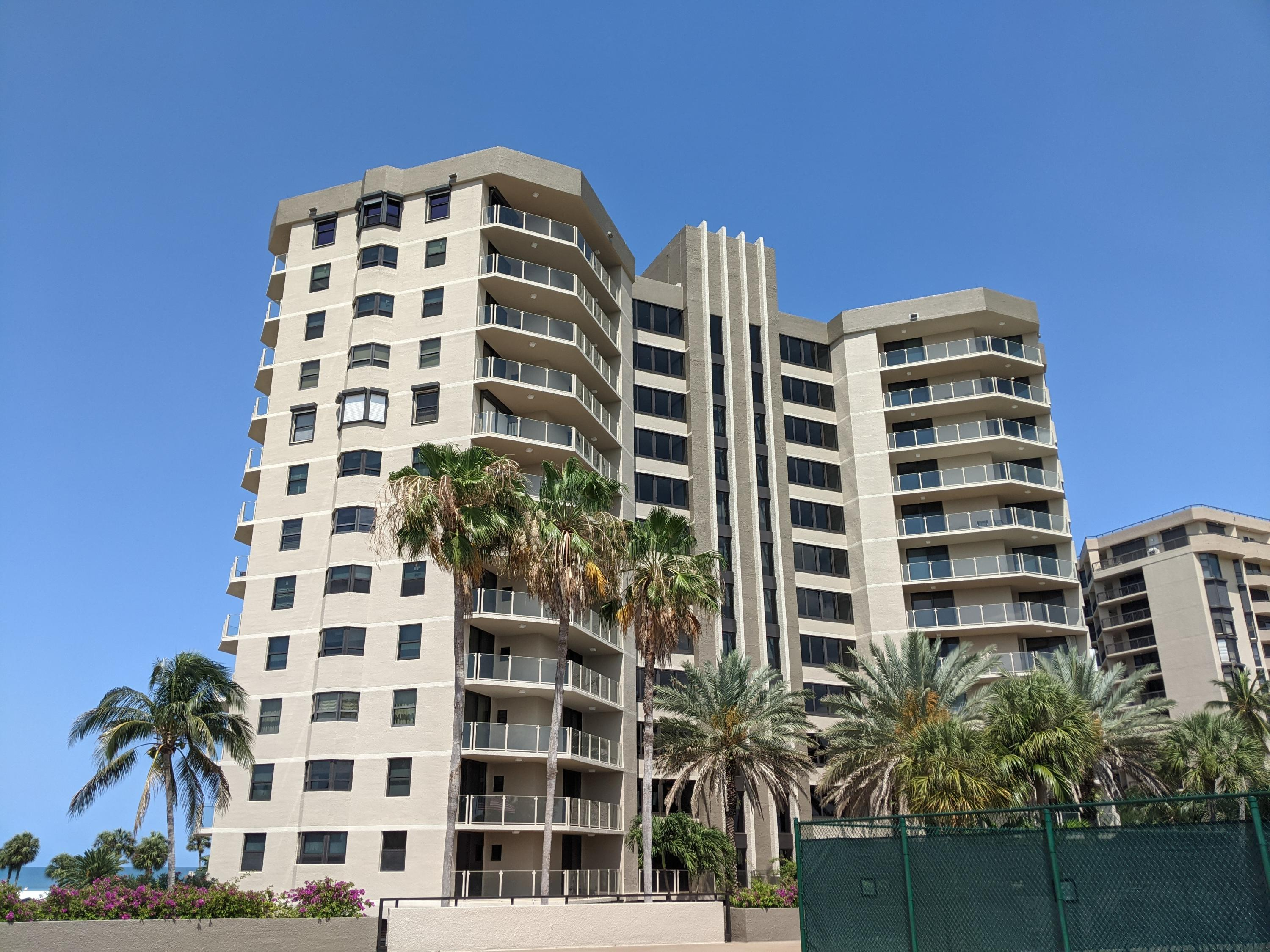 Spacious and luxurious turn-key Condominium on the beautiful waters of the Gulf of Mexico. This bright 2275 sq. ft. unit features 2 large balconies, internet, and walk-in closets. The hot water tank was replaced in 2020. Amenities include large pool, spa, sauna, tennis, pickleball, shuffle board, covered parking, and incredible beach. Must see well maintained building, and the unit was never rented.