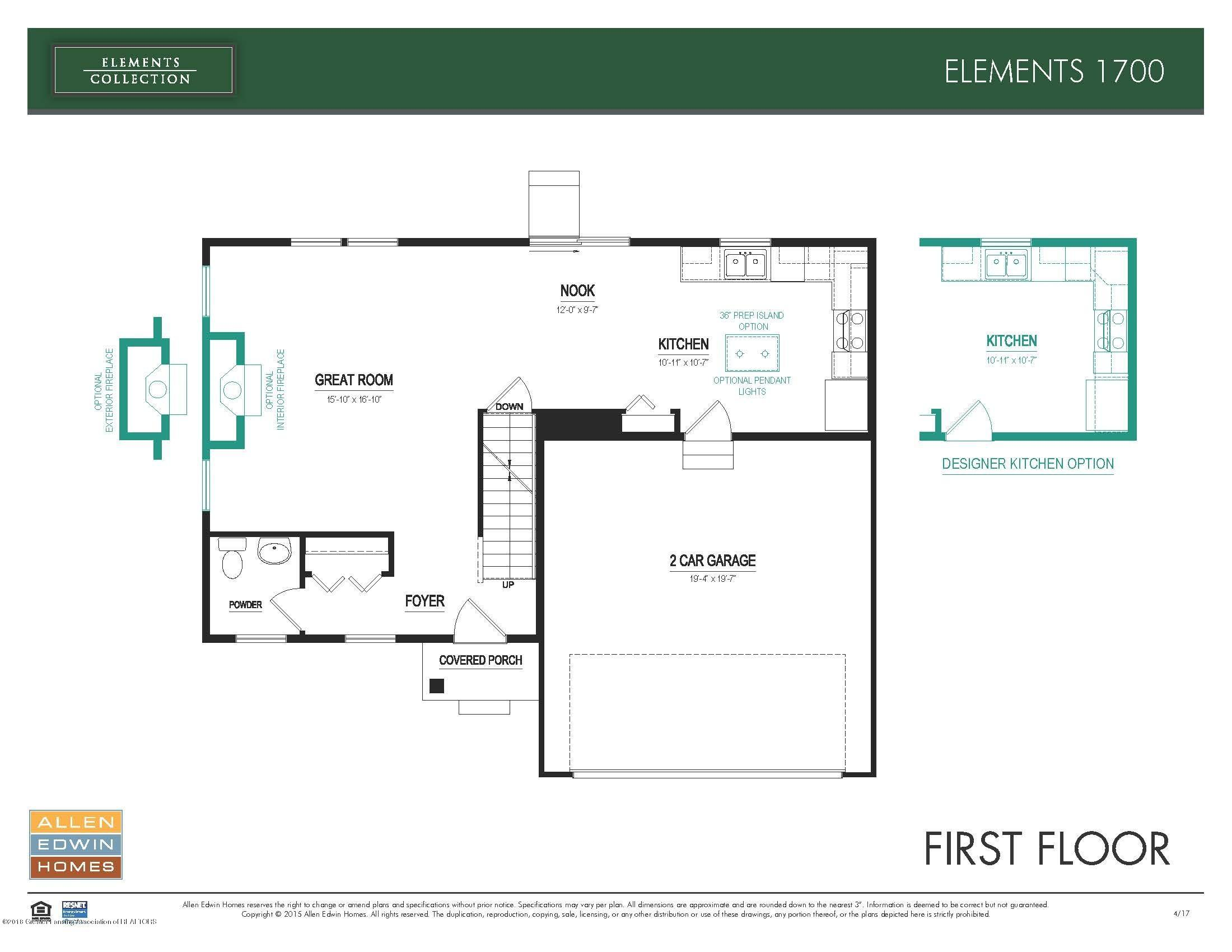 3536 Fernwood Ln - Elements 1700 First Floor - 14