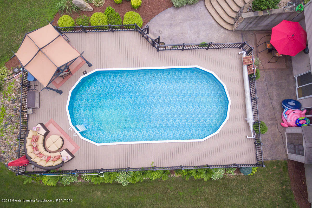 1781 S Michigan Rd - 1781 S. Michigan Rd. Aerial Pool view 3 - 2
