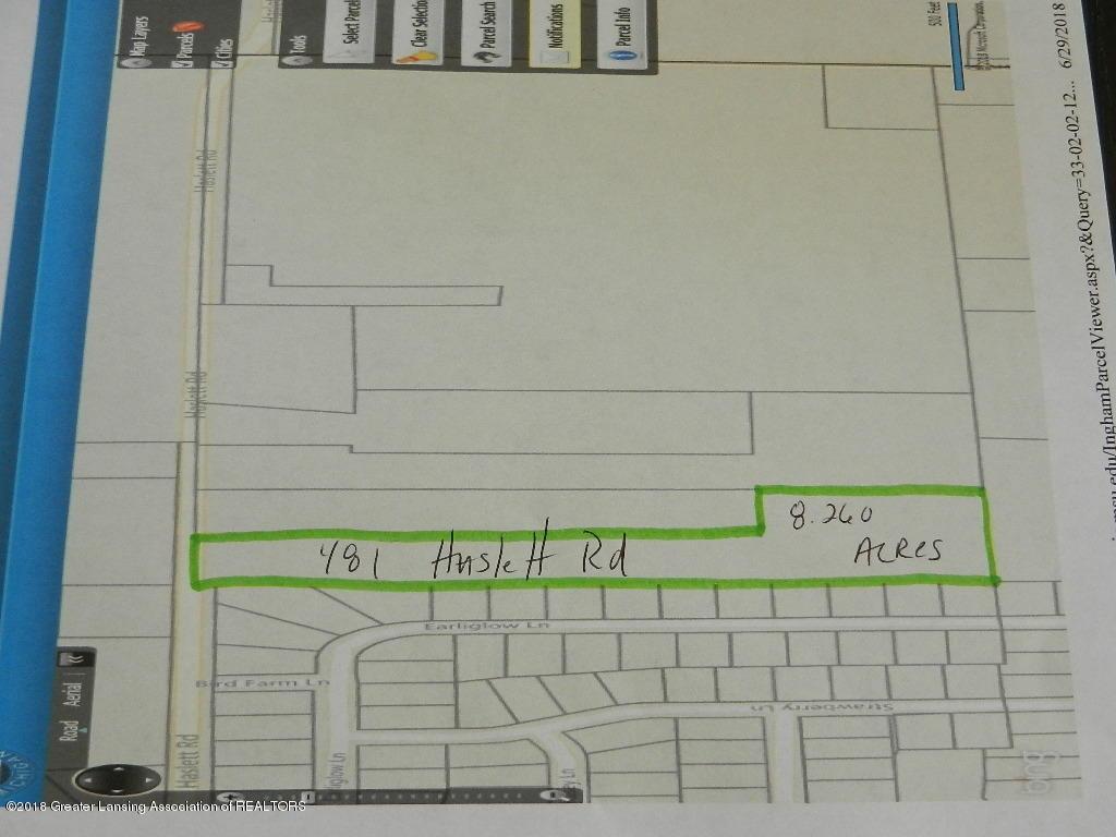 481 Haslett Rd - 481 Haslett Rd Parcel Map - 2