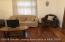 Lower level Living Room (refinished floors)