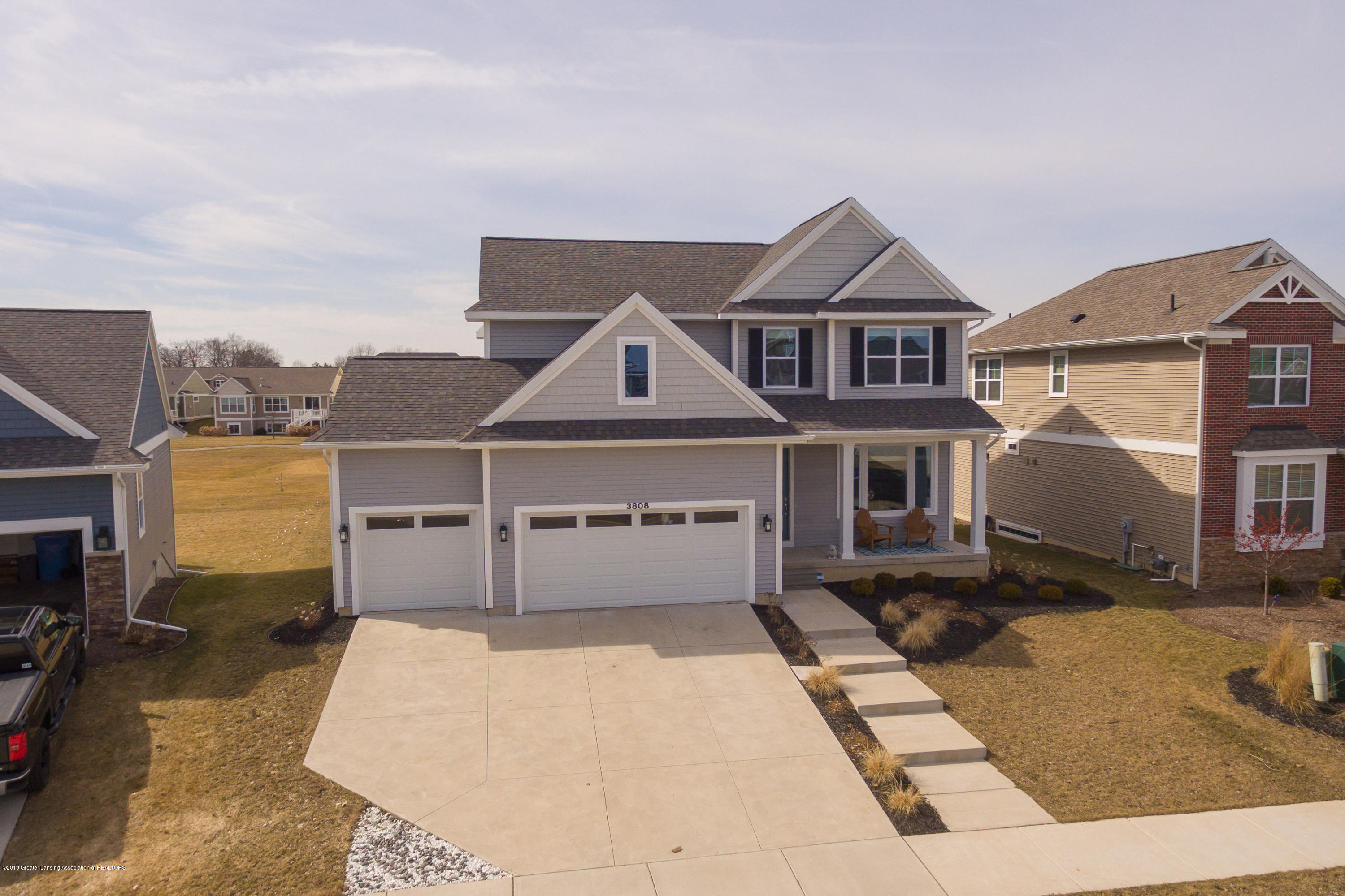 3808 Baulistrol Dr - Aerial Front View - 44