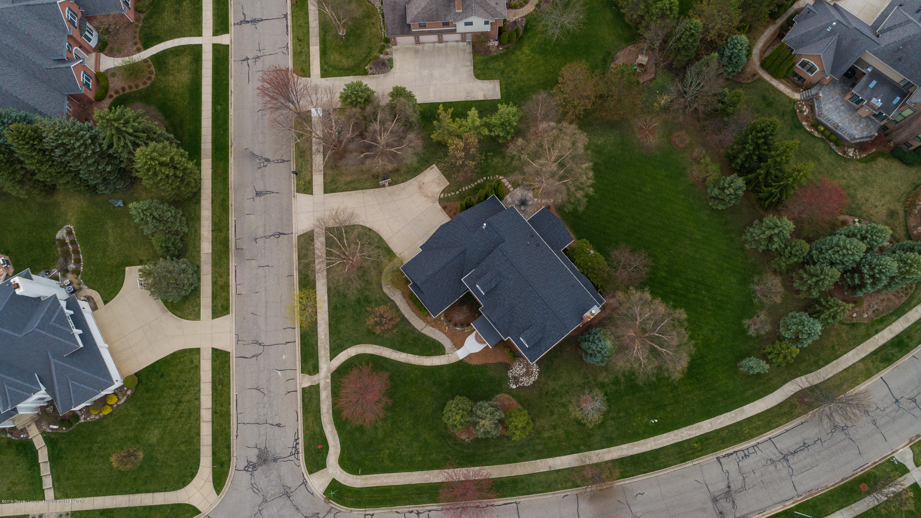 2057 Birch Bluff Dr - Drone above view - 4