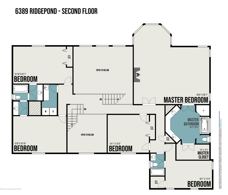 6389 Ridgepond Dr - Floor Plan 3 - 89